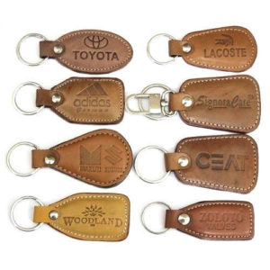 Leather Key Chain With Logo