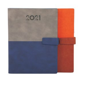 PU Leather Diary with Clip