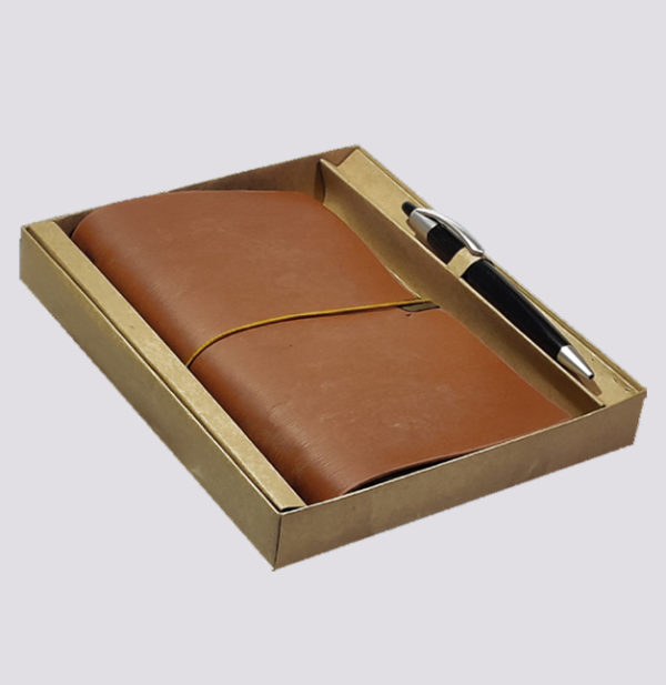 Leather notebook Giftset