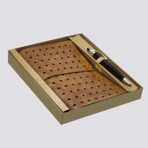 Leather Notebook Pen Set with Box